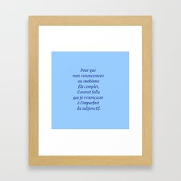 Imparfait du subjonctif 2 Framed Art Print