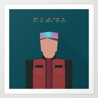 marty mcfly Art Prints featuring Marty McFly 2015 by Miguel R. Díaz