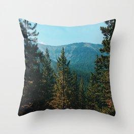 let's mountain adventure/ jasper, canada Throw Pillow