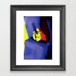 Lamentation in Blue, Yellow, and Orange Framed Art Print