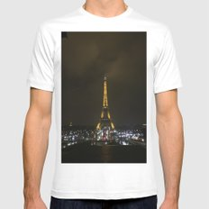 Tour Eiffel  White MEDIUM Mens Fitted Tee