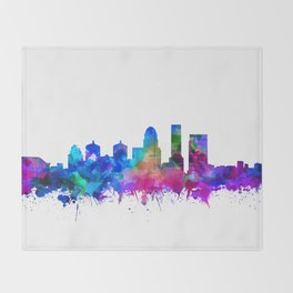 louisville skyline watercolor 2 Throw Blanket