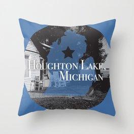 Houghton Lake, MI Throw Pillow