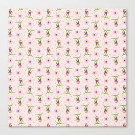 Budding Delight Pink Canvas Print