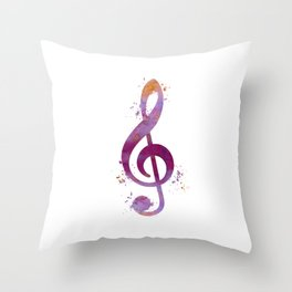 Treble clef Throw Pillow