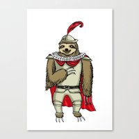 sloth Canvas Prints featuring Sloth  by Artifact Supply