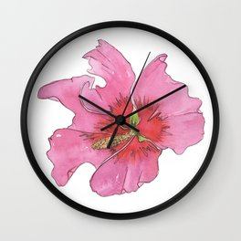 Rose of Sharon Wall Clock