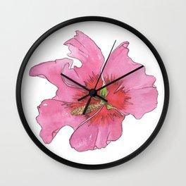 Rose of Sharon Wall Clock