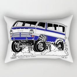 1969 GASSER VAN – Rev 2 BLUE Rectangular Pillow