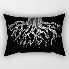 Tree Root Drawing (white on black) Rectangular Pillow