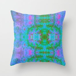Sedated Abstraction II (Ultraviolet) Throw Pillow