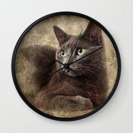 Mitzy The Cat Wall Clock