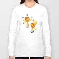 lions Long Sleeve T-shirts featuring Lions by Kendra Shedenhelm