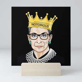 notorious rbg Mini Art Print