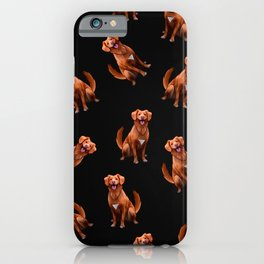 Cute Artsy Golden Retriever Dog Pattern iPhone Case