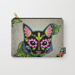 Black Cat - Day of the Dead Sugar Skull Kitty Carry-All Pouch