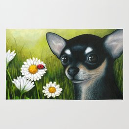 Black Chihuahua Dog Rug