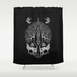 Gungnir - Spear of Odin and Tree of life  -Yggdrasil Shower Curtain