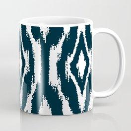 Dark Indigo Blue Ikat Nordic Coffee Mug