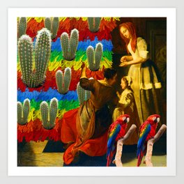 AND THIS, IS THE RAINBOW BRUSH CACTUS. I Art Print