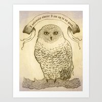 hedwig Art Prints featuring Hedwig by Georgia Roberts