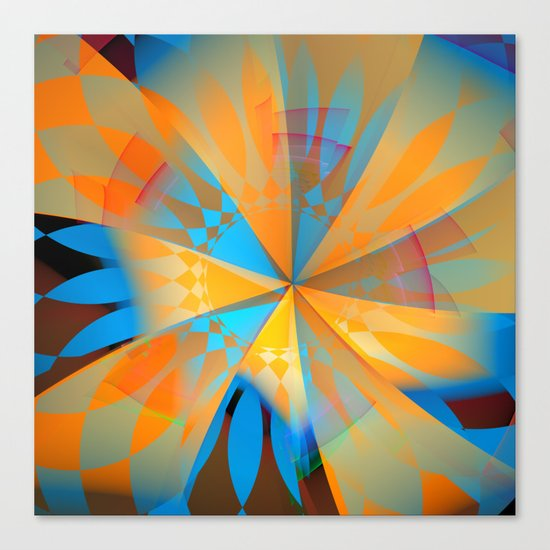 Thinking of a blue sky and the summer sun Canvas Print
