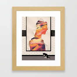"""About Your Skin"" by Jasu Hu for Nautilus Framed Art Print"