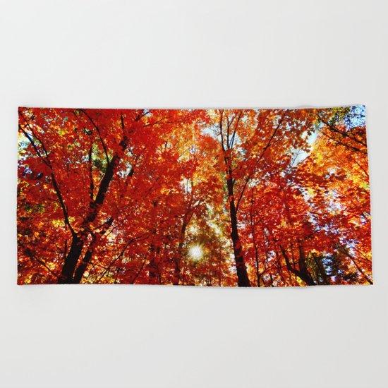 Sun in the Trees Beach Towel
