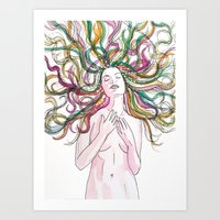 venus Art Prints featuring venus by Beth Jorgensen