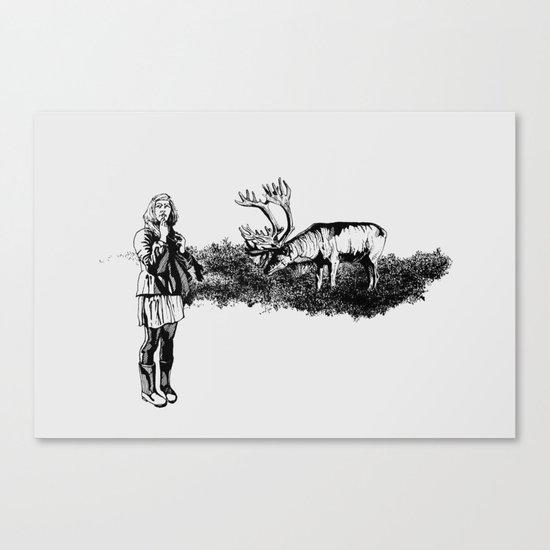 caribou Canvas Print