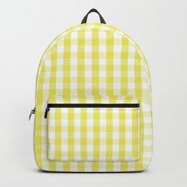 Citron Lemon Gingham Check Tartan Backpack