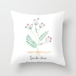 Siembra Amor Throw Pillow