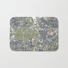 Berlin city map engraving Bath Mat