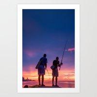 Fisherman #2 Art Print