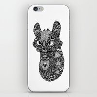 toothless iPhone & iPod Skins featuring TOOTHLESS by FilippoCardu