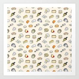 Cheese pattern Art Print