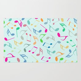 Music Colorful Notes Rug