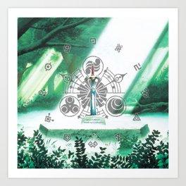 Zelda Sword Shine Art Print