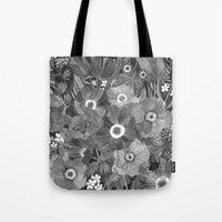 oana befort Tote Bags featuring Kitty Undercover by Oana Befort