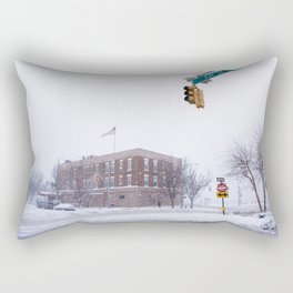 Snow NYC West Side Highway Rectangular Pillow