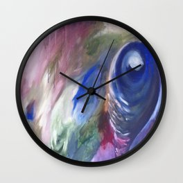 Blue Vision  Original Painting by Ciel Ellis Wall Clock