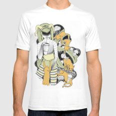 SPACE White Mens Fitted Tee MEDIUM