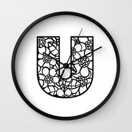 Letter U Wall Clock