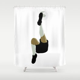 Football Bicycle Kick Shower Curtain