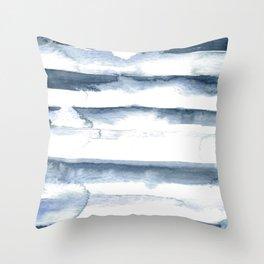 indigo streak Throw Pillow