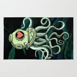 octopus diver in love Rug