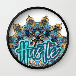 Aqua Hustle Mandala Wall Clock