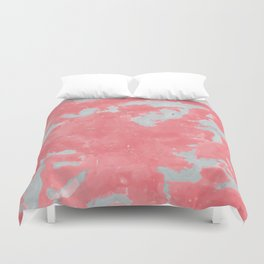 pink marble pattern Duvet Cover