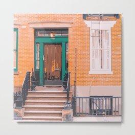 Next Door - Manhattan Stoop Metal Print