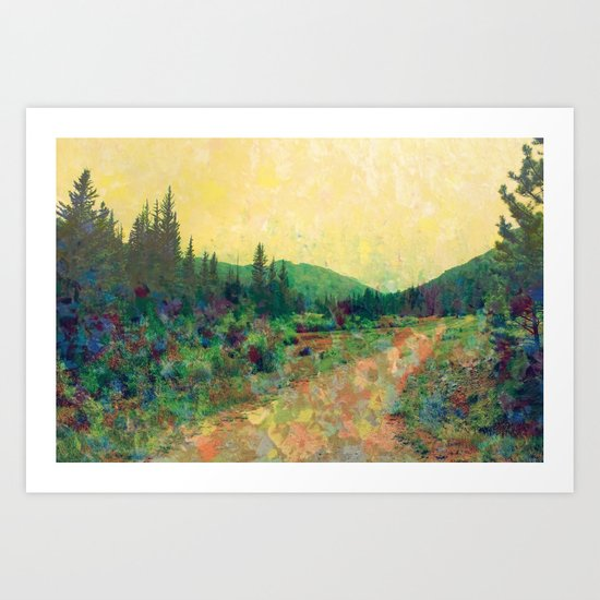 Miles to Go Before I Sleep Art Print
